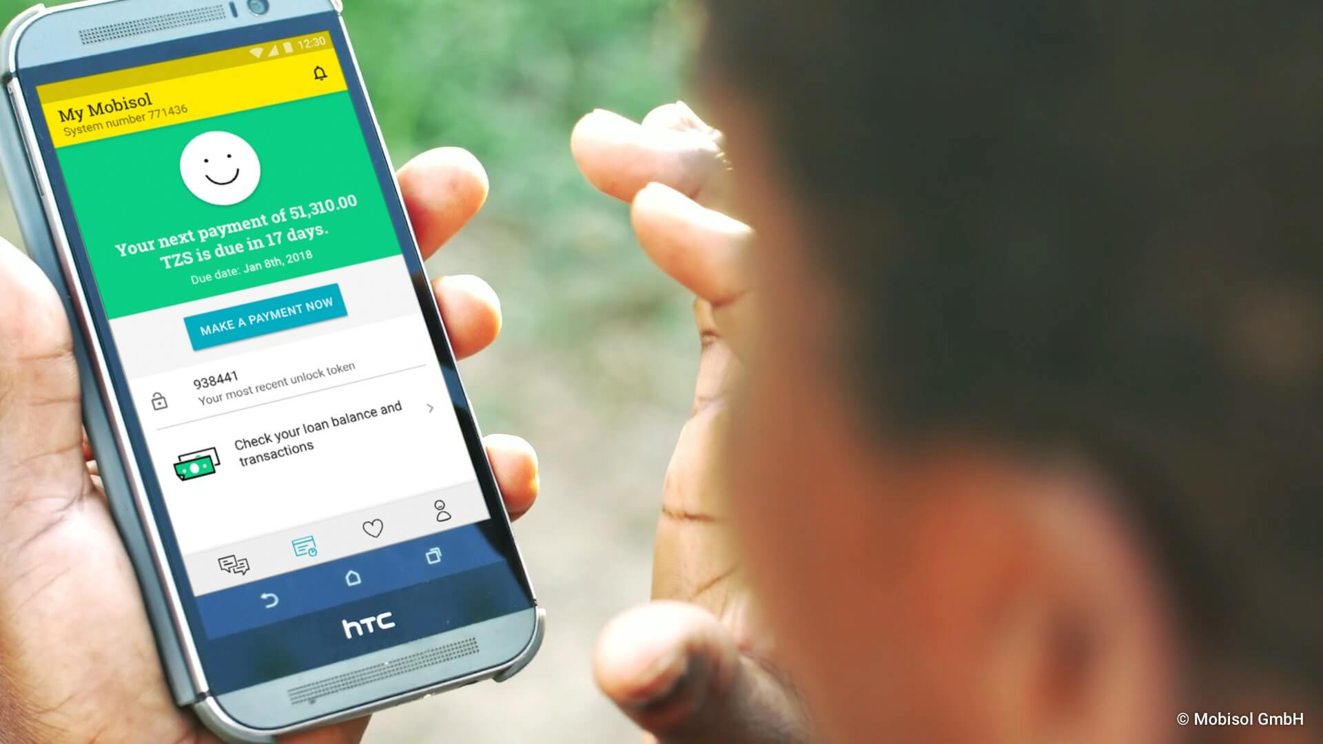 Mobisol Customer App Interface tanzania solar home system